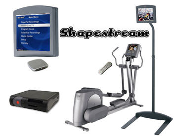 the Shapestream system with a LifeCycle elliptical trainer